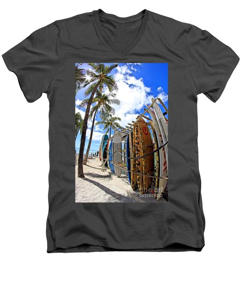 Surf And Sun Waikiki Men's V-Neck T-Shirt
