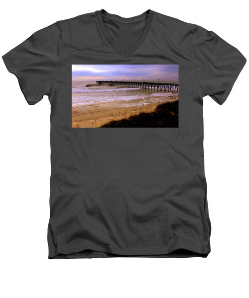 Surf City Pier Men's V-Neck T-Shirt