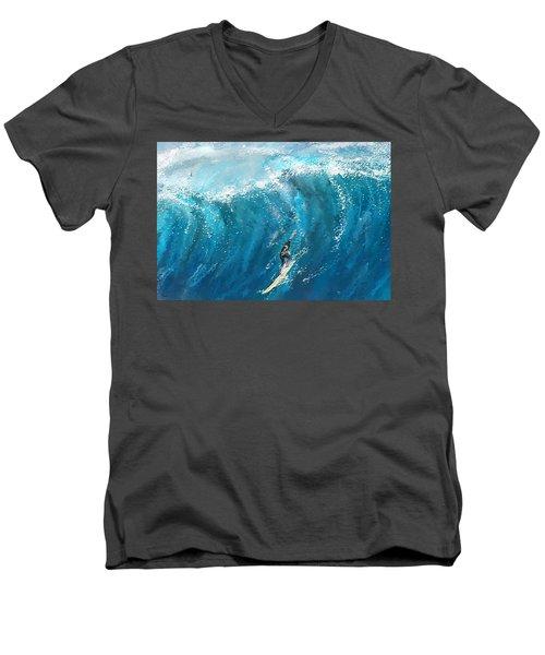 Surf's Up- Surfing Art Men's V-Neck T-Shirt