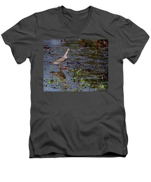 Swamp Strutting Men's V-Neck T-Shirt by Liz Masoner