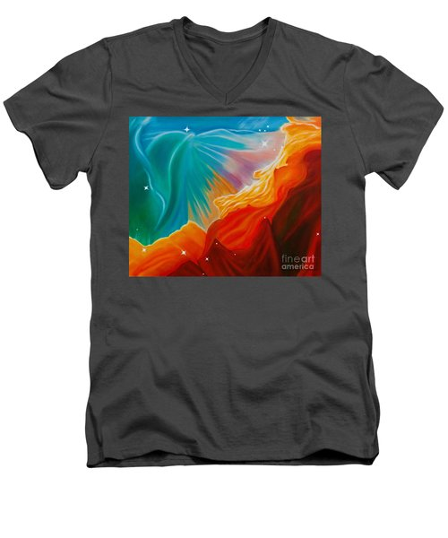 Swan Nebula Men's V-Neck T-Shirt