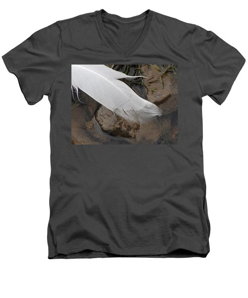 Men's V-Neck T-Shirt featuring the photograph Sway With The Movement Of The Water by Tiffany Erdman