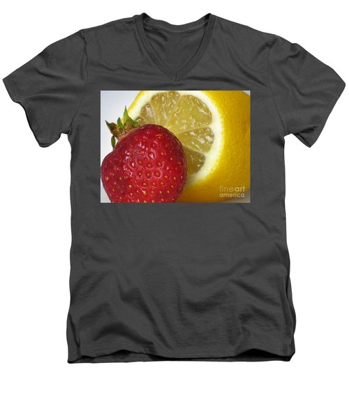 Men's V-Neck T-Shirt featuring the photograph Sweet And Sour by Nina Silver