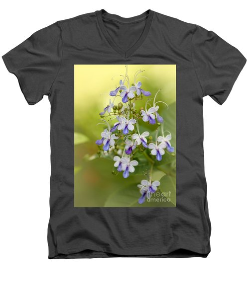 Sweet Butterfly Flowers Men's V-Neck T-Shirt
