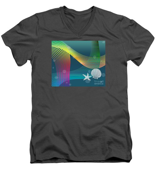 Sweet Dreams2 Abstract Men's V-Neck T-Shirt by Megan Dirsa-DuBois