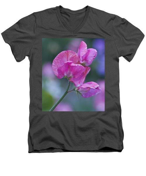 Sweet Pea In Pink Men's V-Neck T-Shirt