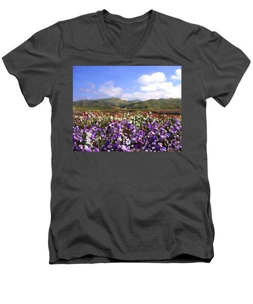 Sweet Peas Galore Men's V-Neck T-Shirt