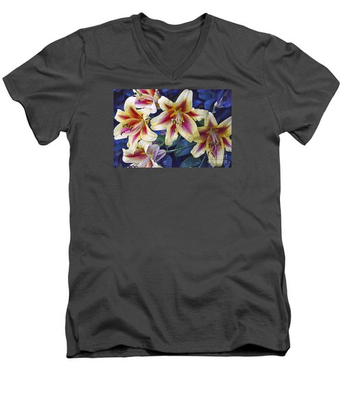 Men's V-Neck T-Shirt featuring the photograph Sweet Summer Time  by Juls Adams