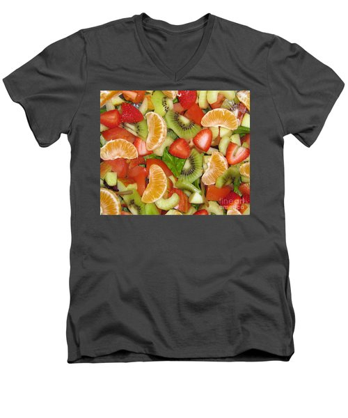 Sweet Yummies Men's V-Neck T-Shirt by Janice Westerberg