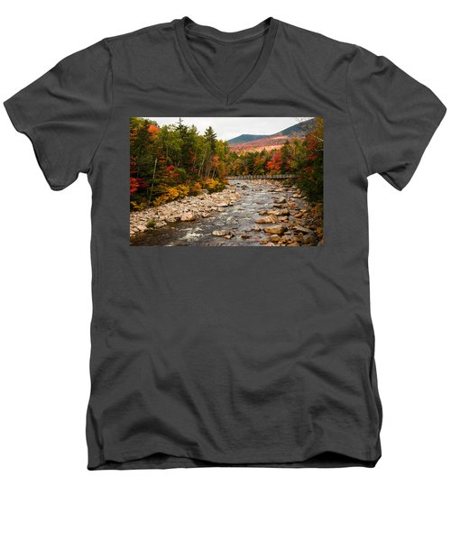 Swift River Painted With Autumns Paint Brush Men's V-Neck T-Shirt