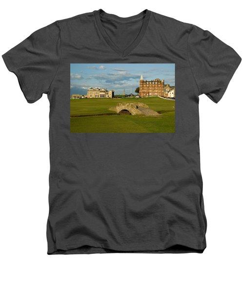 Swilken Bridge Men's V-Neck T-Shirt by Jeremy Voisey