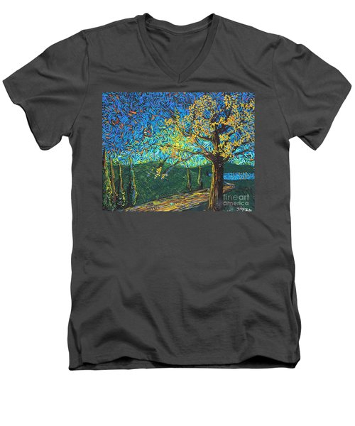Swing By The Road Men's V-Neck T-Shirt