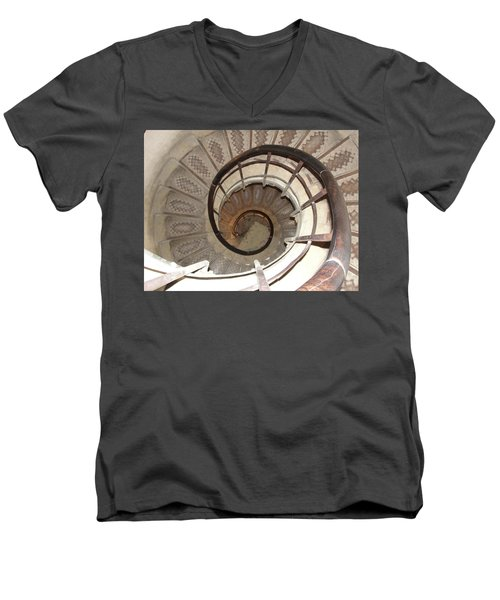 Men's V-Neck T-Shirt featuring the photograph Swirls by Tiffany Erdman