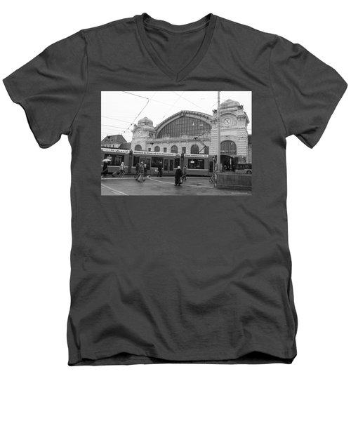 Swiss Railway Station Men's V-Neck T-Shirt