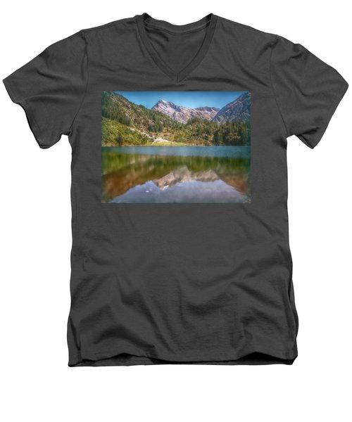 Swiss Tarn Men's V-Neck T-Shirt by Hanny Heim