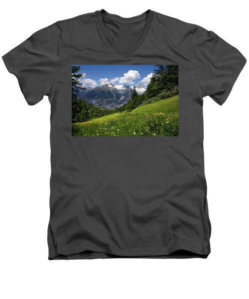 Switzerland Bietschhorn Men's V-Neck T-Shirt