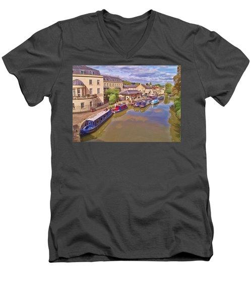 Sydney Wharf Bath Men's V-Neck T-Shirt