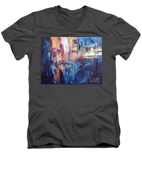 Symphony In Blue Men's V-Neck T-Shirt