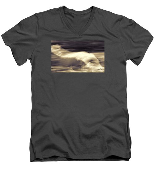Men's V-Neck T-Shirt featuring the photograph Synchronicity by Joan Davis