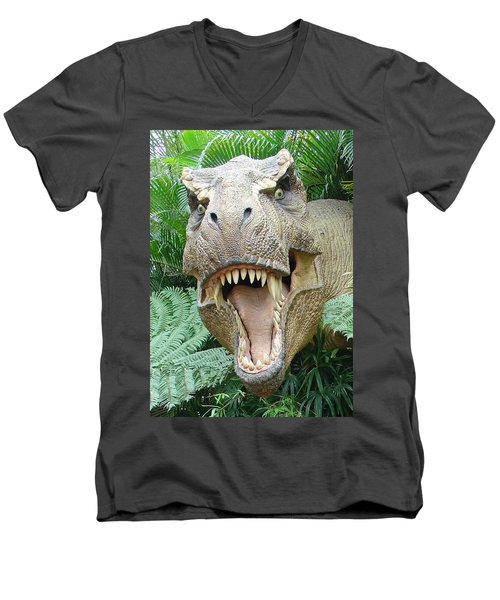 T-rex Men's V-Neck T-Shirt
