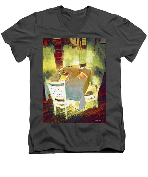 Table At The Fauve Cafe Men's V-Neck T-Shirt