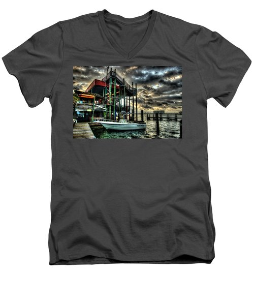 Men's V-Neck T-Shirt featuring the digital art Tacky Jack Morning by Michael Thomas
