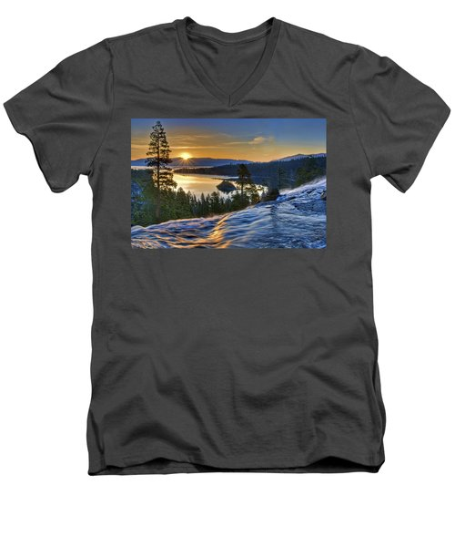 Tahoe Sunrise Men's V-Neck T-Shirt