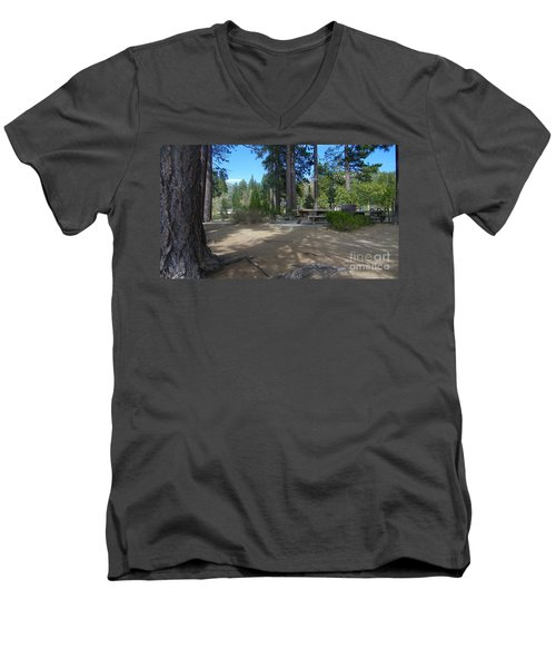 Men's V-Neck T-Shirt featuring the photograph Tahoe's Summer Invitation by Bobbee Rickard