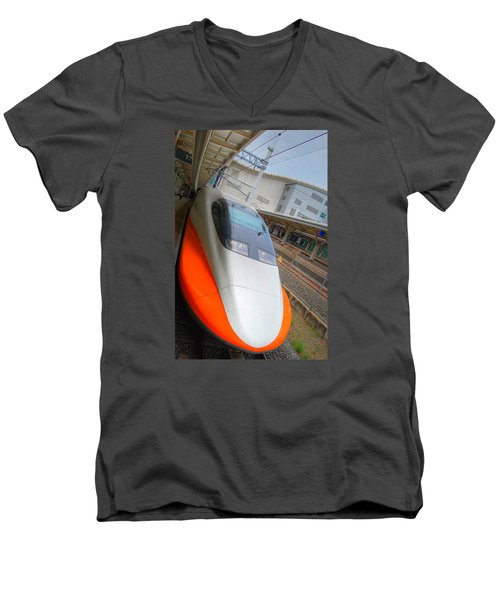 Taiwan Bullet Train Men's V-Neck T-Shirt