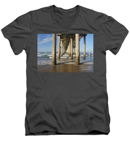 Men's V-Neck T-Shirt featuring the photograph Take A Break by Tammy Espino
