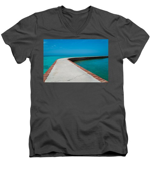 Men's V-Neck T-Shirt featuring the photograph Take A Walk by Kristopher Schoenleber