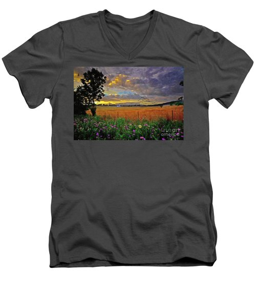 Take Me Home Men's V-Neck T-Shirt by Lianne Schneider