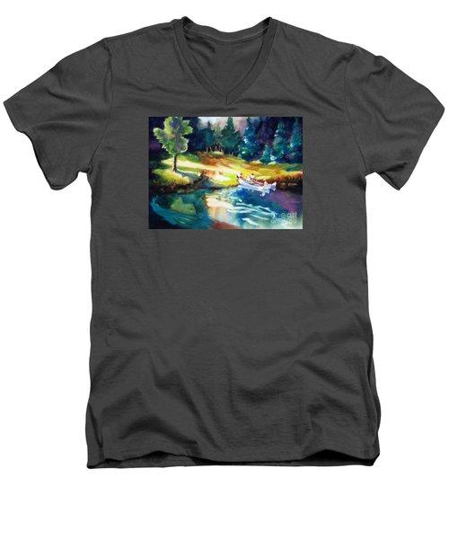 Taking A Break 2 Men's V-Neck T-Shirt by Kathy Braud