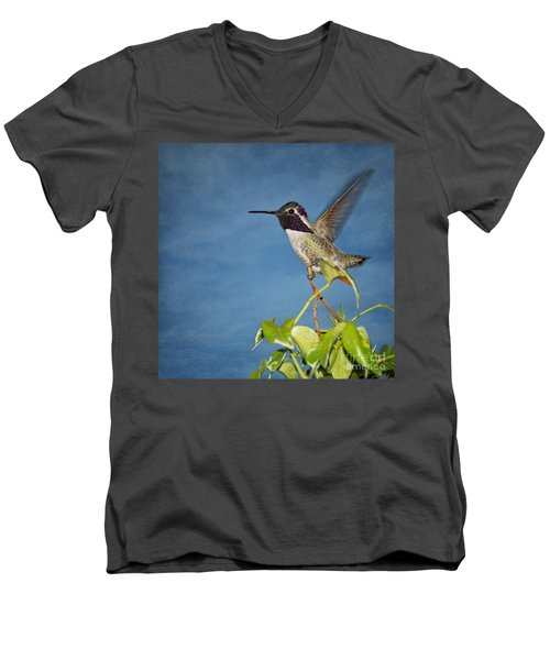 Taking Flight Men's V-Neck T-Shirt by Peggy Hughes