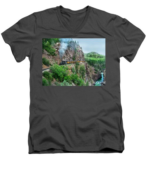 Taking The Highline Home Men's V-Neck T-Shirt
