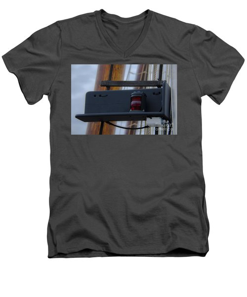 Men's V-Neck T-Shirt featuring the photograph Tall Ship Bow Light by Dale Powell