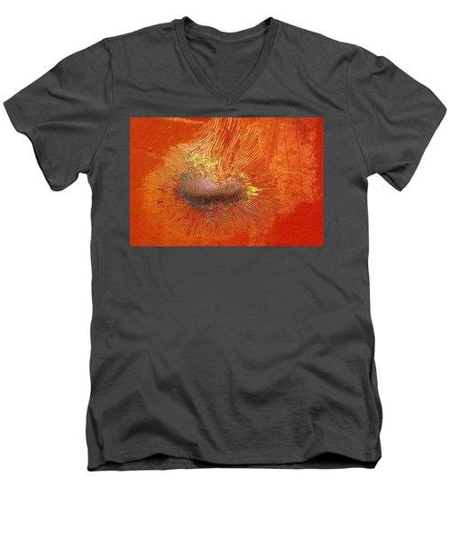 Tangerine Burst Men's V-Neck T-Shirt