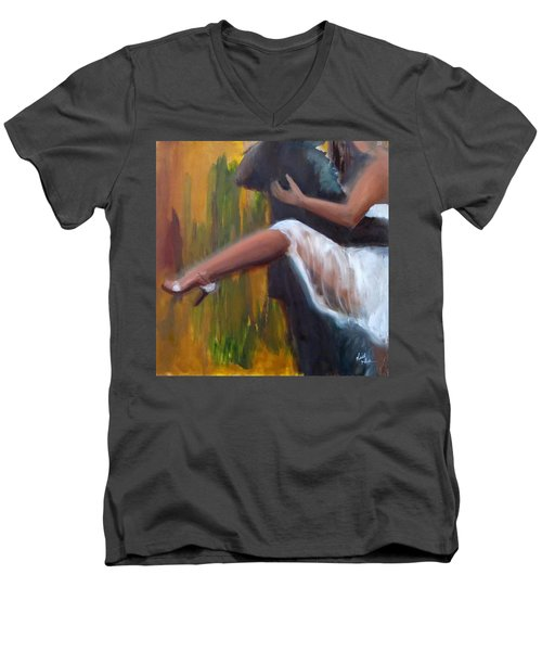 Tango On The Piazza Men's V-Neck T-Shirt