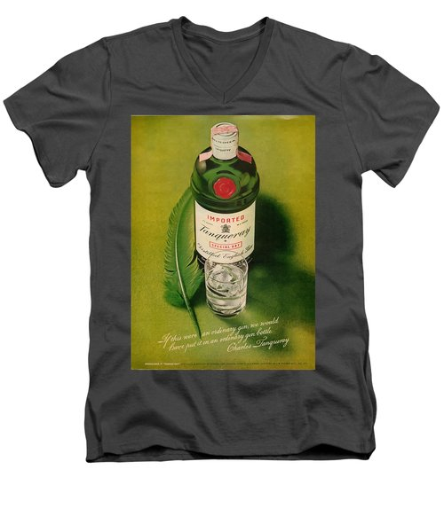 Tanqueray Gin Men's V-Neck T-Shirt