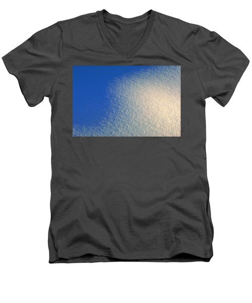 Men's V-Neck T-Shirt featuring the photograph Tao Of Snow by Mark Greenberg