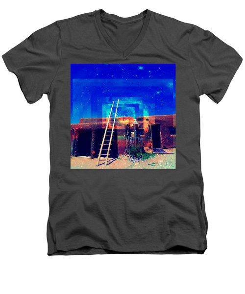 Taos Dreams Come True Men's V-Neck T-Shirt