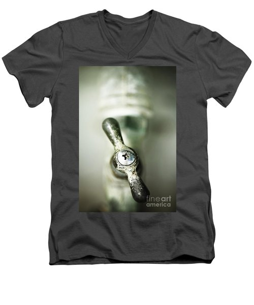 Men's V-Neck T-Shirt featuring the photograph Tap Into Your Life by Trish Mistric