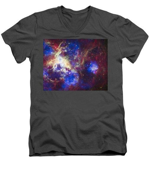 Tarantula Nebula Men's V-Neck T-Shirt