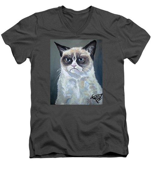 Tard - Grumpy Cat Men's V-Neck T-Shirt