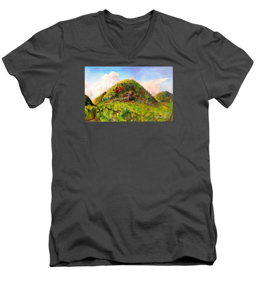 Taro Garden Of Papua Men's V-Neck T-Shirt