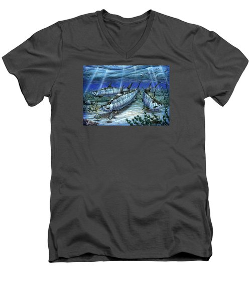 Tarpon In Paradise - Sabalo Men's V-Neck T-Shirt