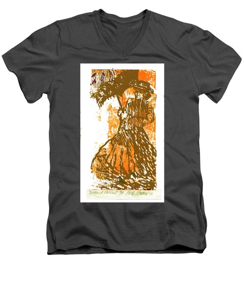 Tattered Parasol Men's V-Neck T-Shirt by Seth Weaver