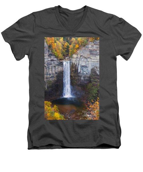 Taughannock Falls In Autumn Men's V-Neck T-Shirt