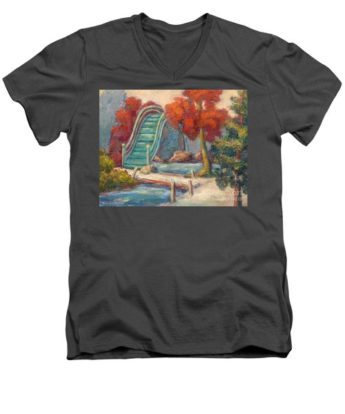 Tea Garden Bridge Men's V-Neck T-Shirt