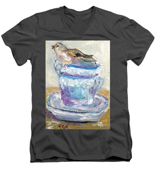 Tea Time  Men's V-Neck T-Shirt